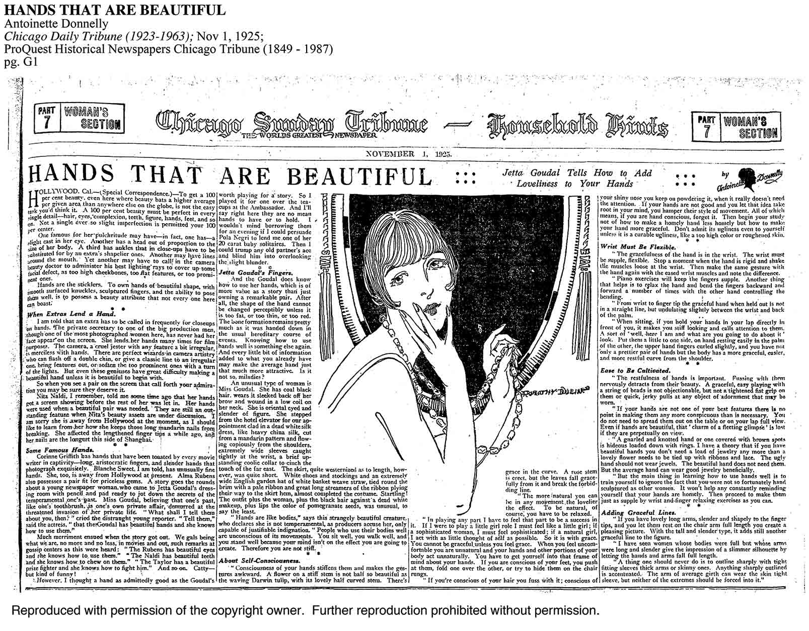 Chicago Daily  Tribune – 1925